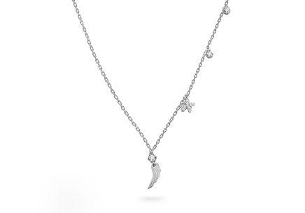 debe70897 Strieborný náhrdelník s príveskami a zirkónmi ...