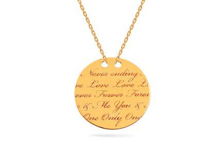 Zlatá retiazka s medailónom Forever Love Celebrity ... 3bbd8e466e7