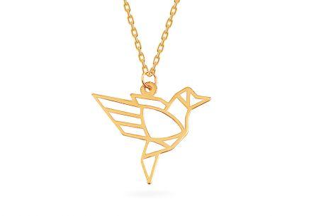 eff12d5c3 Zlatý náhrdelník Origami vtáčik ...