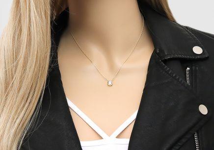 a841850be Zlatý náhrdelník so solitérnym zirkónom Zlatý náhrdelník so solitérnym  zirkónom
