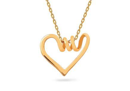 Zlatý náhrdelník so srdiečkom ... b9bfed1b150