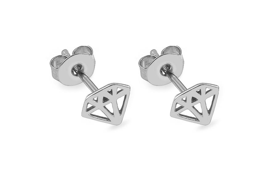 a7a962442 Napichovacie náušnice z bieleho zlata diamanty, pre ženy (IZ13925A ...