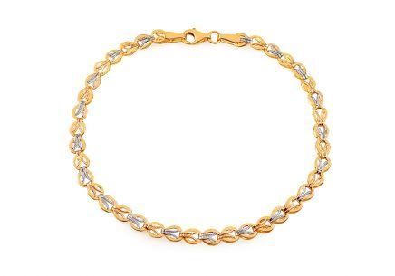 432ef27ff Elegantný náramok z kombinovaného zlata Zesie ...