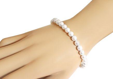 Náramok z prírodných bielych perál Náramok z prírodných bielych perál e626073c977