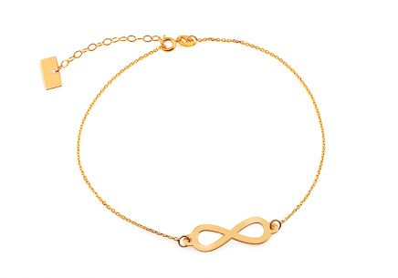 Zlatý náramok retiazka Infinity 1 ... cbb87fe5233