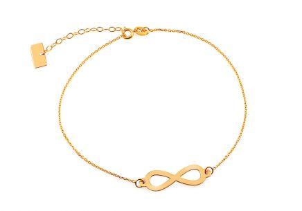 Zlatý náramok retiazka Infinity 1 ... bbae4ec30b7
