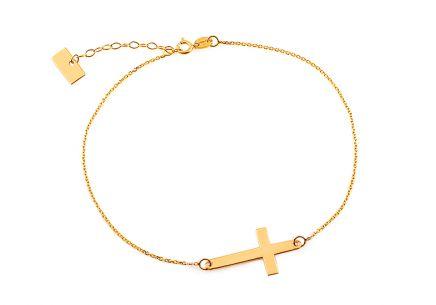 Zlatý náramok s krížikom Celebrity ... 3f516a07f1f