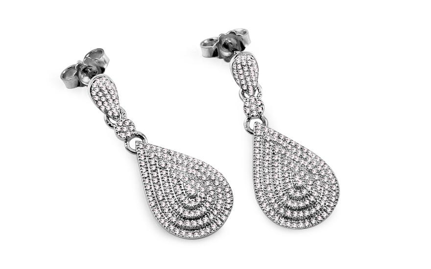 ab8578929 Náušnice z bieleho zlata s diamantmi 0.550 ct Edeline, pre ženy ...