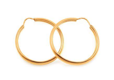 Zlaté náušnice kruhy 2 340ff8b73f5