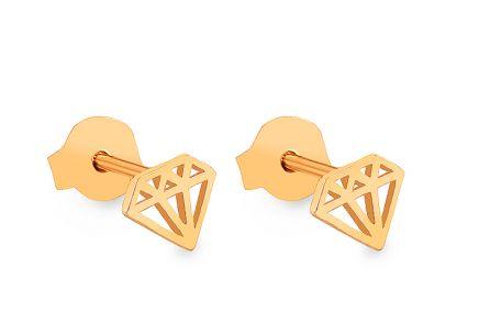 Zlaté napichovacie náušnice diamanty ... 9c5d0c3605b