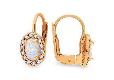 Zlaté náušnice s opálom Angelina 1 ... b233d606cbd