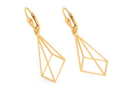 e88dff256 Zlaté visiace náušnice s trojuholníkom ...