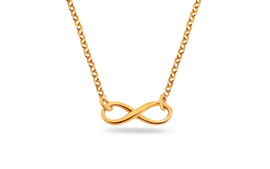 92e8e6283 Pozlátený strieborný náhrdelník nekonečno, pre ženy (IS1134NA ...