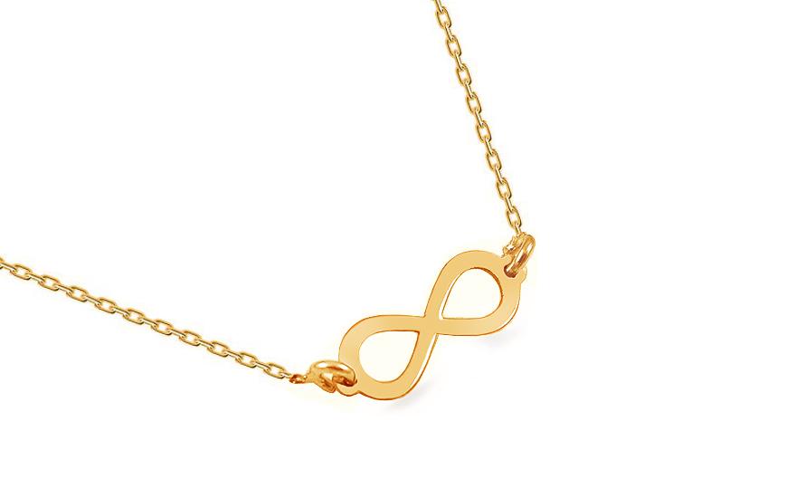 58acf0830 Pozlátený strieborný náhrdelník nekonečno, pre ženy (IS1793RY ...