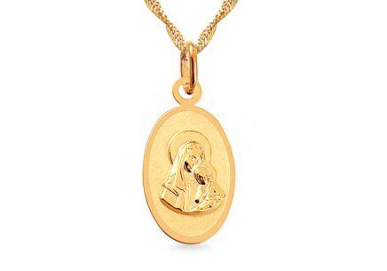 Zlatá platnička Madonka s dieťaťom ... a76628bf8ba