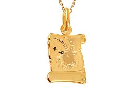 Zlatá platnička so znamením Kozorožec ... a40a6192e54