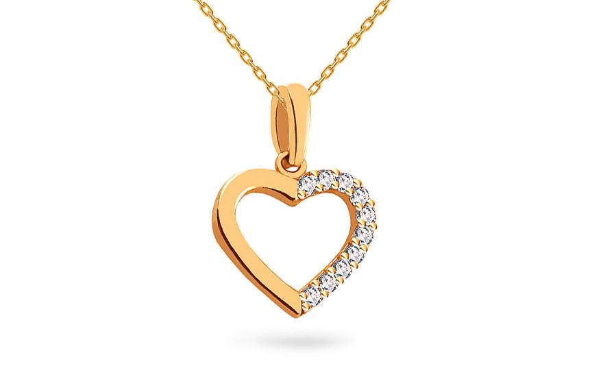 96f7f18a8 Prívesok srdce iZlato, pre ženy (IZ18363) | iZlato.sk