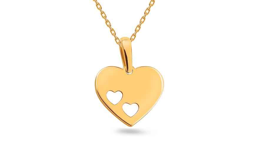 dd7373b5f Prívesok srdce, pre ženy (IZ18404) | iZlato.sk