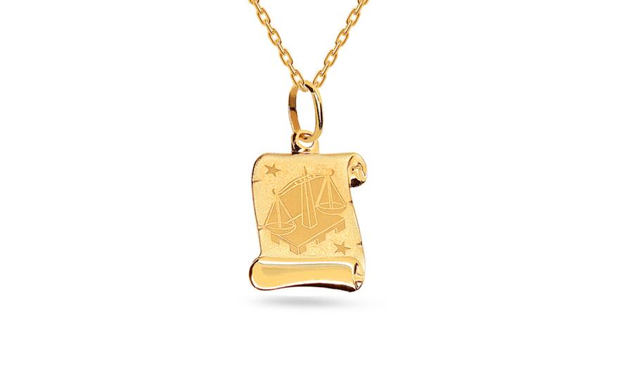 0b594614d Prívesok znamenie váhy zo žltého zlata (IZ3482) | iZlato.sk