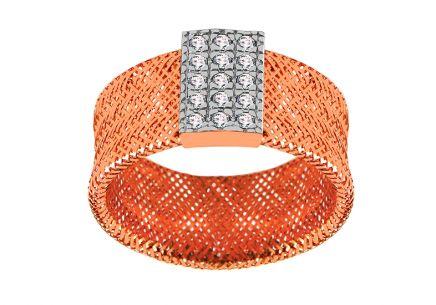 883ce1ddf Zlatý prsteň Flexi rose so zirkónmi ...
