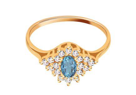 8a07ce266 Zlatý prsteň s modrým kameňom Zlatý prsteň s modrým kameňom