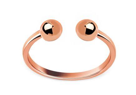 9f9b684ab Štýlový otvorený prsteň z ružového zlata ...