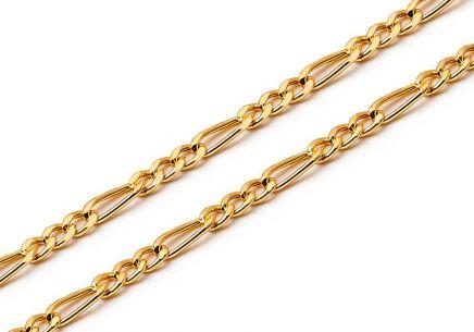 Zlatá retiazka Figaro 1 mm ... 88407e2e3b7