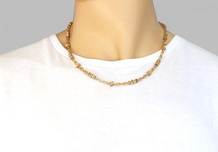 a7f5d508a Zlatá dvojfarebná pánska retiazka Zlatá dvojfarebná pánska retiazka