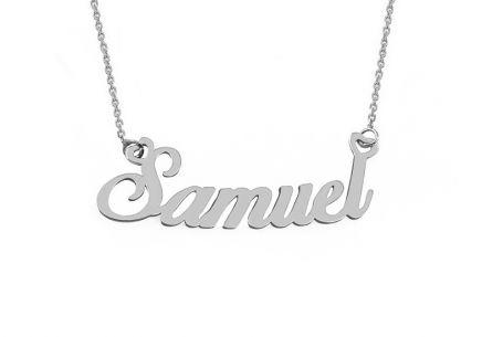 Zlatá biela retiazka s menom Samuel ... 05fc1d521fc