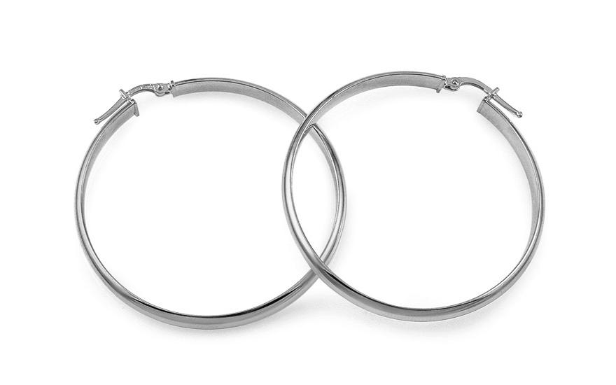 fec08bb4e Strieborné náušnice kruhy hladké 4,5 cm, pre ženy (IS1550AM)   iZlato.sk