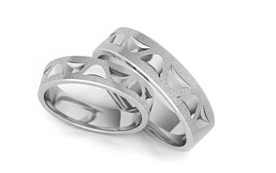 dd6ea8d6a Strieborné svadobné obrúčky pieskované 5mm (STOB132AG) | iZlato.sk