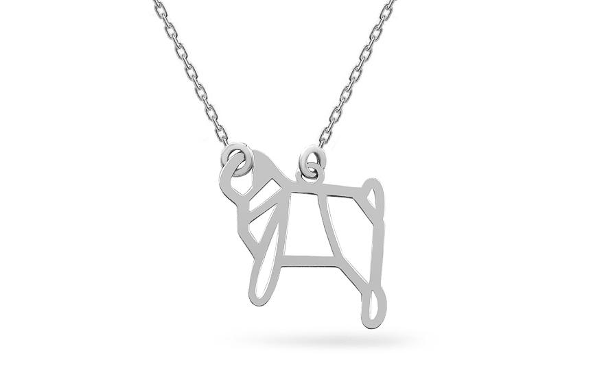 b72d4326d Strieborný náhrdelník Origami pes, pre ženy (IS2096) | iZlato.sk