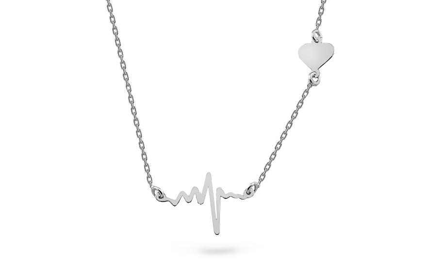 Strieborný náhrdelník Tlkot srdca fea166b54cb
