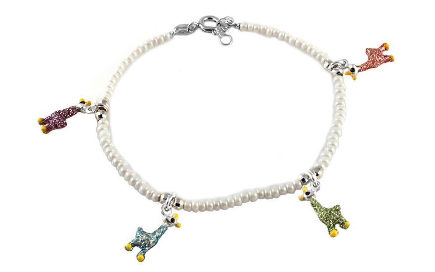 c233f8555 Strieborný náramok so žirafami, pre deti (IS511) | iZlato.sk