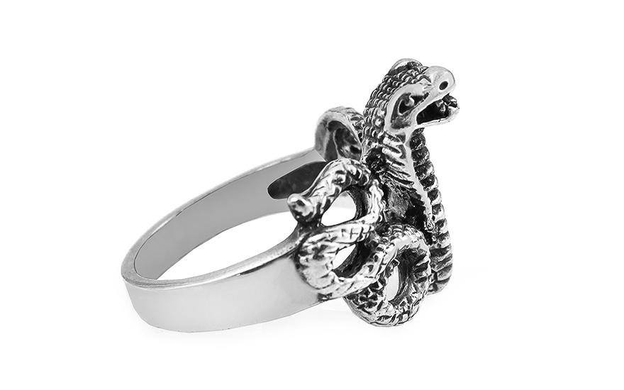 c6bb05078 Strieborný prsteň Kobra, pre mužov (IS2998) | iZlato.sk