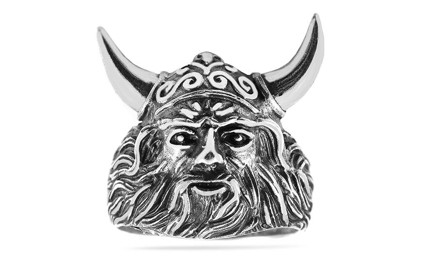 af81bab95 Strieborný prsteň Viking, pre mužov (IS2995) | iZlato.sk
