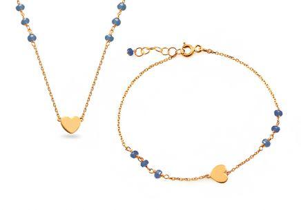 e884d65bd Zlatá súprava náhrdelník s náramkom | iZlato.sk