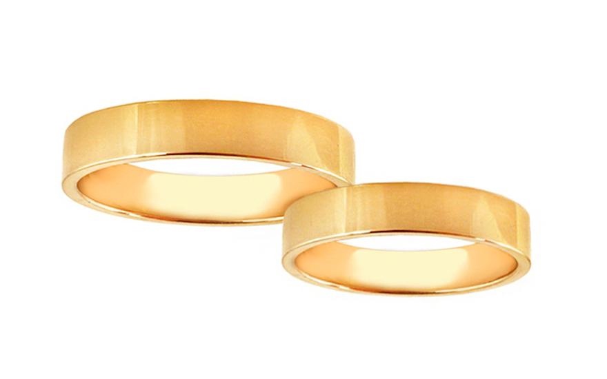Svadobné obrúčky žlté zlato šírka 4 mm (STOB10001-4)  e1f0ff879d2