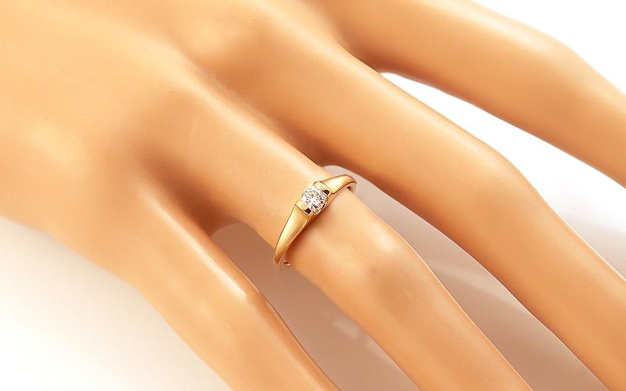 d8e4ff13e Úžasný diamantový zásnubný prsteň zo žltého zlata 0.250 ct, pre ženy ...