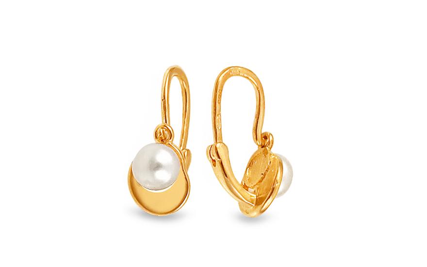 iZlato Forever Zlaté detské náušnice s perličkou 1-235-0256