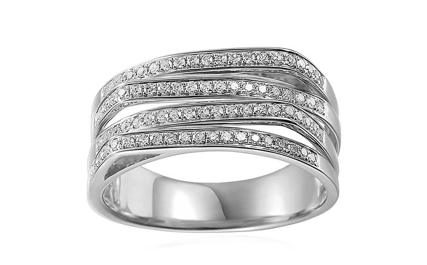 f6bd419db Veľkolepý briliantový prsteň z bieleho zlata 0.300 ct, pre ženy ...