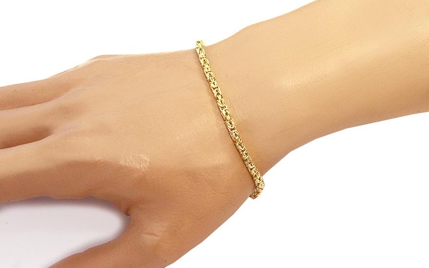 cb4eb4dad Vkusný zlatý náramok Kráľovský vzor 3 mm, pre mužov (IZ6485N ...