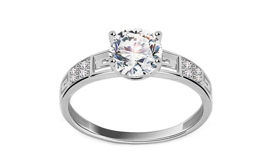 Zásnubný prsteň z bieleho zlata Elise 2 228621336d3