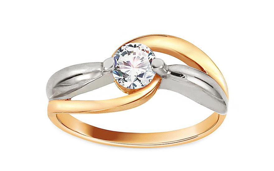 3a86cf8ac Zlatý zásnubný prsteň Ramona 11, pre ženy (CSRI1278) | iZlato.sk