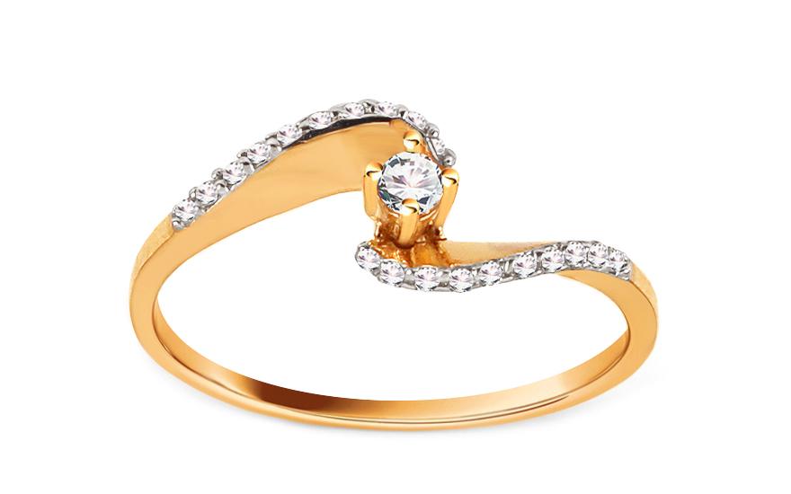 0ffe1f3e8 Zlatý zásnubný prsteň Pretty 12, pre ženy (CSRI2060) | iZlato.sk