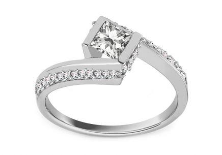 f7e685764 Zásnubný prsteň z bieleho zlata so zirkónmi Ruby 4 ...