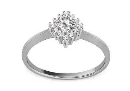d0341f1d4 Zásnubný prsteň z bieleho zlata so zirkónmi Diane 4 ...
