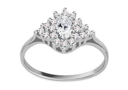 e7f93e54c Zásnubný prsteň z bieleho zlata so zirkónmi Diane 5 ...
