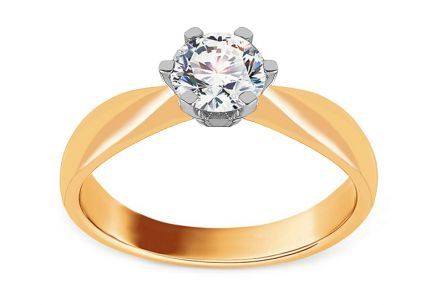 32c0c0471 Zlaté zásnubné prstene - kombinované zlato, pre ženy | iZlato.sk