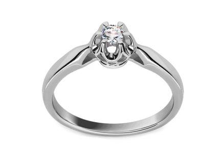 Zásnubný prsteň s 0.090 ct briliantom Crown white ... 9dd1237060d